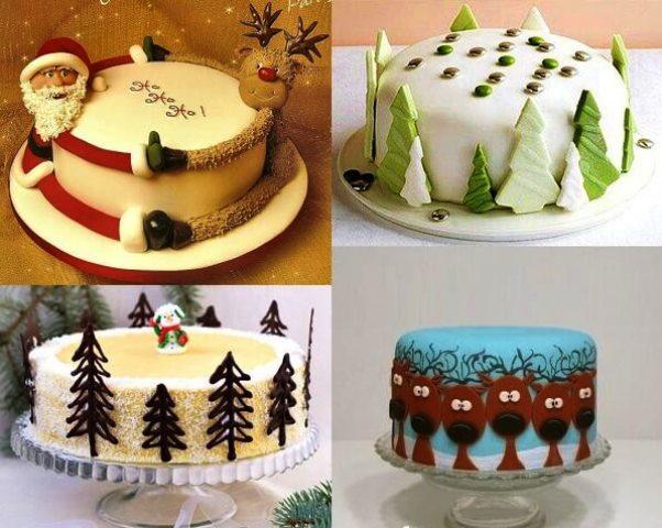 Как красиво украсить торт на Новый 2019 год: в домашних условиях, идеи в 2019 году